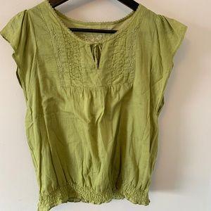 2/$18 Green / Cotton / Lightweight / Blouse